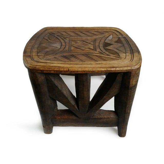 Vintage XL Nupe Tribal Stool / Table For Sale - Image 4 of 6
