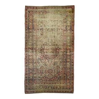 """Distressed Antique North East Persian Mashad Carpet - 9'3""""x 16'"""