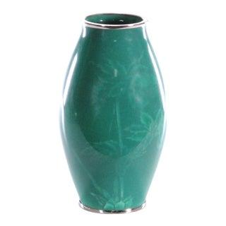 Mid 20th Century Japanese Musen Shippo Wireless Enamel Vase For Sale