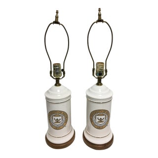University of Michigan Vintage Lamps - A Pair
