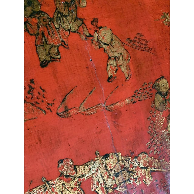 Chinese Red Lacquer & Gilt Low Coffee Table For Sale - Image 9 of 13