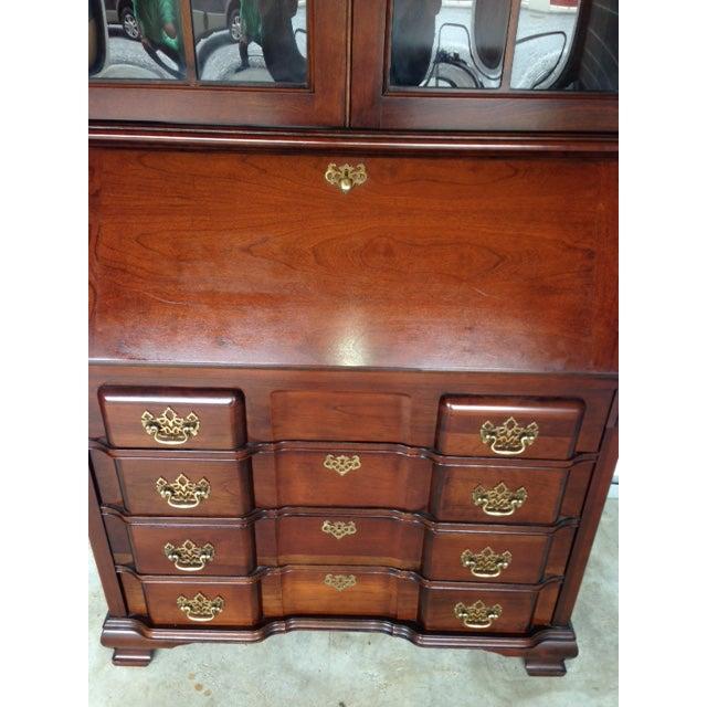 Vintage Jasper Cabinet Mahogany Secretary Desk | Chairish
