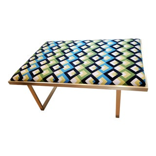Modern Taylor Burke Home Kelly Brass Coffee Table For Sale