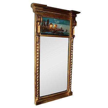 19th C. Empire Églomisé Reverse Painted Mirror - Image 1 of 2