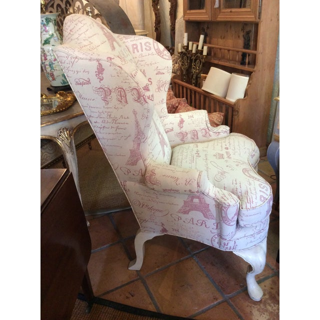 Sculptured Paris Inspired Wingback Chair - Image 5 of 6