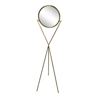 Visual Comfort Dot Stance Rotating Floor Lamp in Natural Brass For Sale