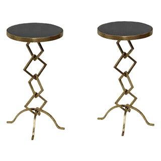 Set of 2 Flynn Accent Granite Side Table for Living Room For Sale