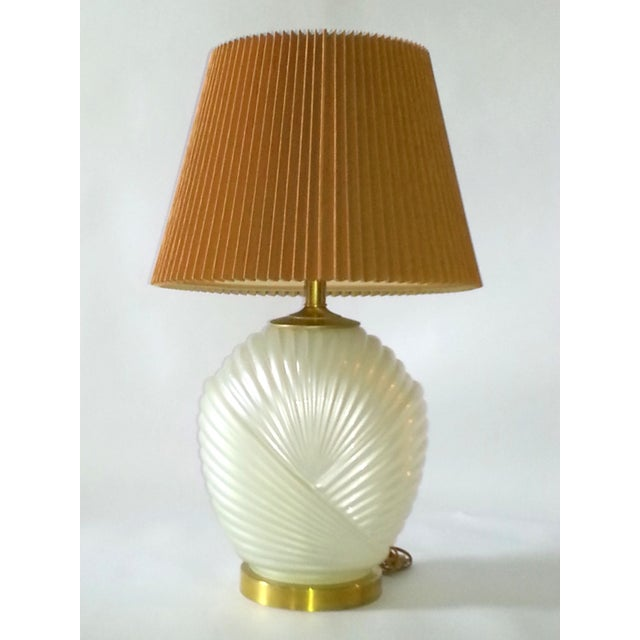 "This is an original table lamp form the 1970s. It is 24.5"" tall from top to bottom and will look beautiful in your home!"