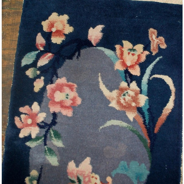 Art Deco 1920s Antique Art Deco Chinese Rug - 2′ × 3′10″ For Sale - Image 3 of 5
