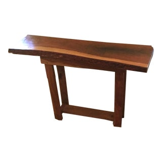 Live Edge Hallway Cherry Table For Sale
