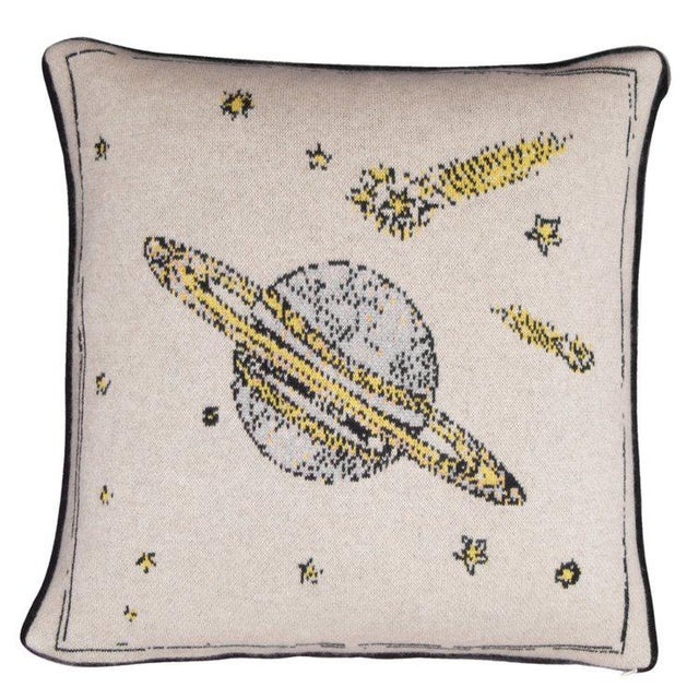 Contemporary Galaxy Cashmere Pillow For Sale - Image 3 of 3