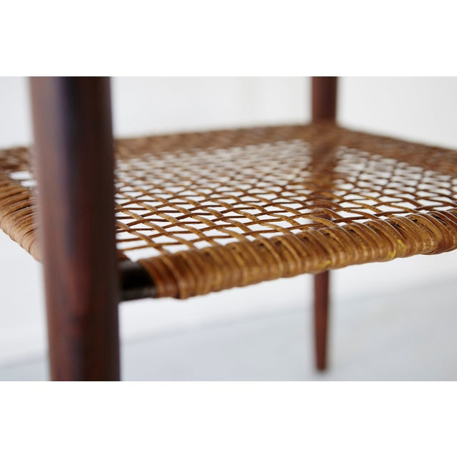 Poul Jensen Rosewood & Cane Side Table - Image 6 of 7