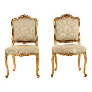 Antique Louis XV Style Chairs - Set of 2 For Sale