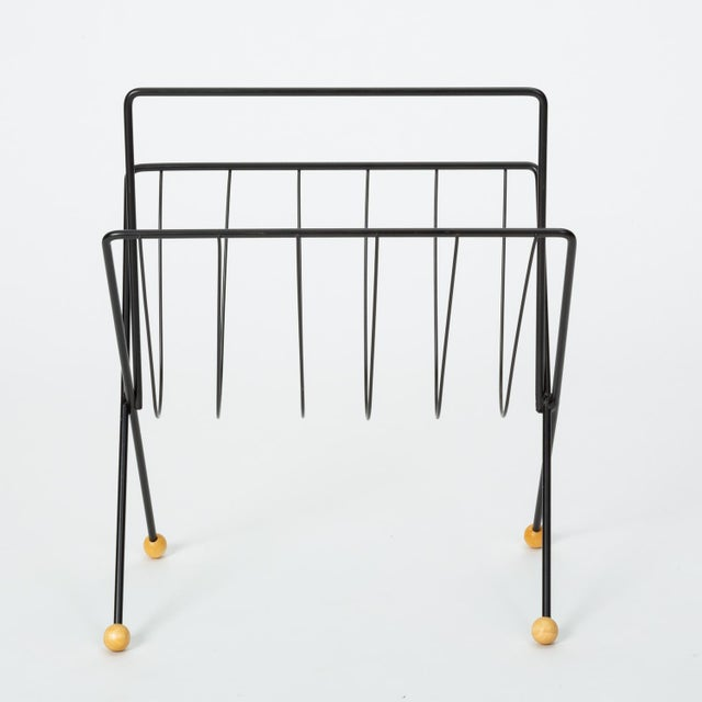 1950s 1950s Wire Magazine Rack by Tony Paul For Sale - Image 5 of 10