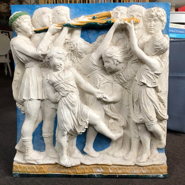 Early 20th Century Early 20th Century Painted Frieze with Cherubs For Sale - Image 5 of 5