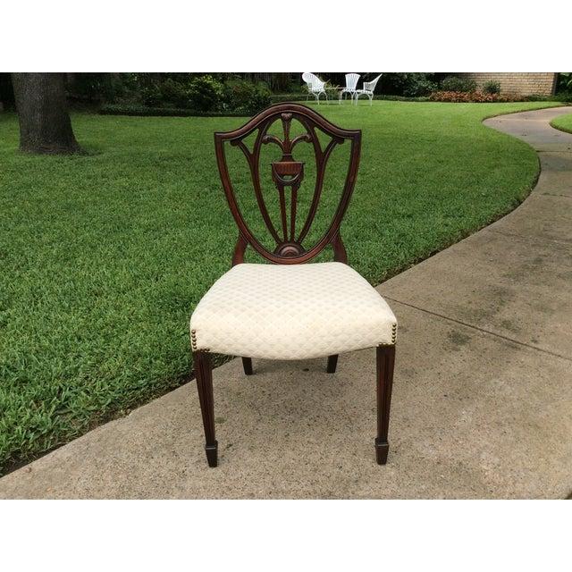Hepplewhite Mahogany Shield Back Dining Chairs-S/6 - Image 4 of 10