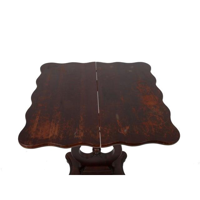 Vintage Flip-Top & Harp Base Side Table - Image 6 of 8