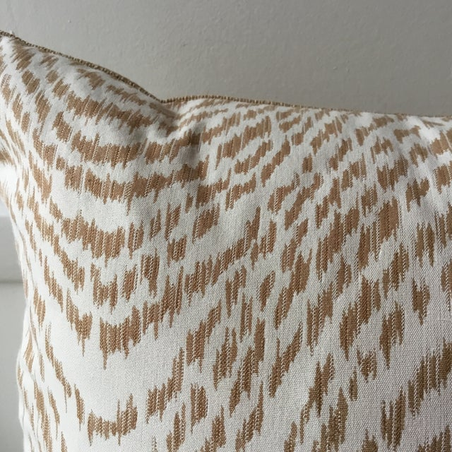 2020s Neutral Tiger Stripe Pillow For Sale - Image 5 of 10