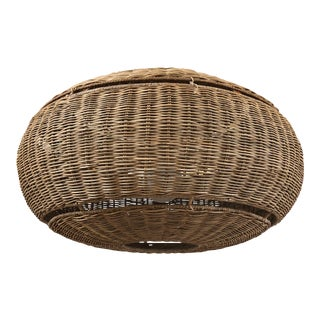 Palmea Wicker Pendant, by Restoration Hardware