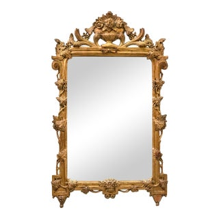 Carved Italian Giltwood Mirror
