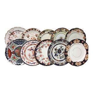 Imari Inspired Mixed Dinner Plates Set 10 For Sale
