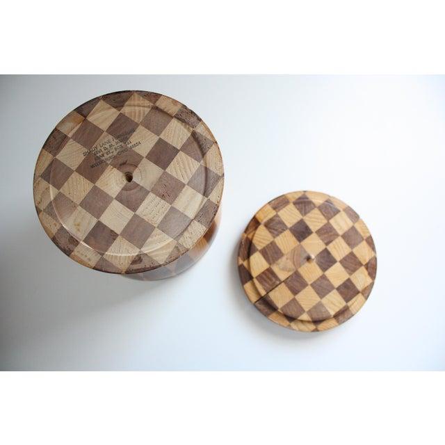 Lidded Wooden Pedestal Bowl - Image 7 of 10