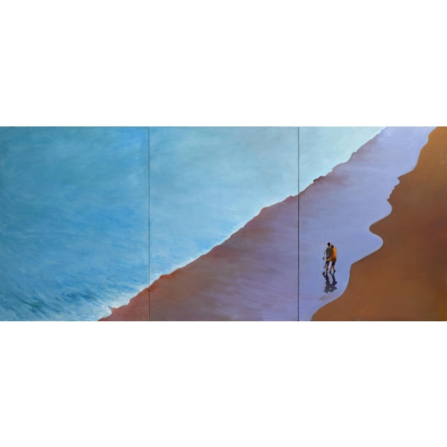 """""""Summer Wave"""" Large Geoff Greene Painting in 3 Sections (Ready for Display) For Sale - Image 10 of 10"""