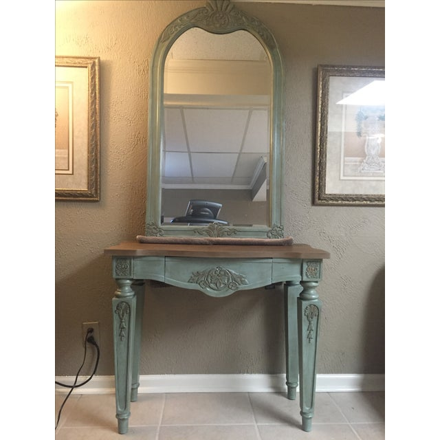 Vintage Console Table and Mirror - Image 2 of 8