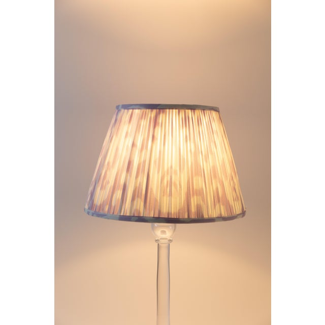 """Contemporary Soft Ikat in Lavender 10"""" Lamp Shade, Lavender For Sale - Image 3 of 7"""