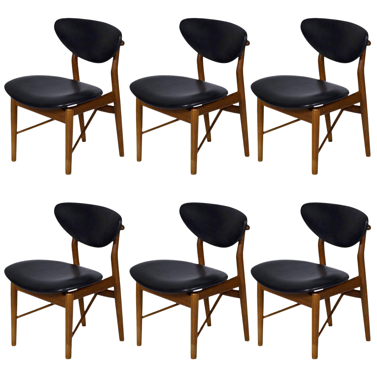 Set of Six Finn Juhl NV 55 Dining Chairs - Image 1 of 10  sc 1 st  Decaso & Superior Set of Six Finn Juhl NV 55 Dining Chairs | DECASO
