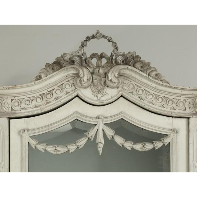 1900 - 1909 Antique French Original Painted Armoire, Circa 1900 For Sale - Image 5 of 12