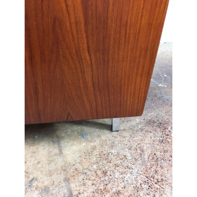 Chrome Rosewood Low Back Cube Chair by Komfort of Denmark For Sale - Image 7 of 11