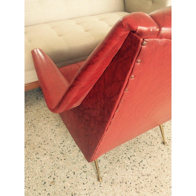 Metal 1960s Vintage Italian Gio Ponti Style Chairs - A Pair For Sale - Image 7 of 11