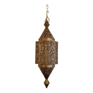 Monumental Moroccan Brass Lantern For Sale