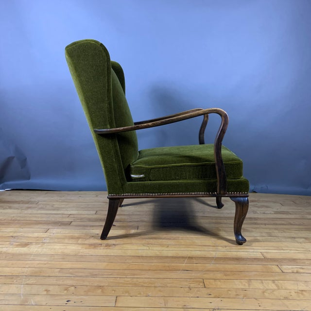 1950s 1950s Walter Knoll Mini Wingchair, Mohair, Germany For Sale - Image 5 of 12