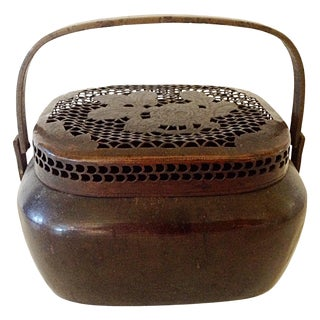19th Century Chinese Bronze Hand Warmer For Sale