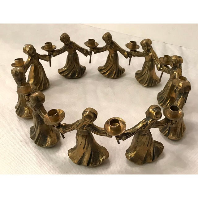 Traditional Vintage Ladies Dancing Candle Holders - Set of 10 For Sale - Image 3 of 10