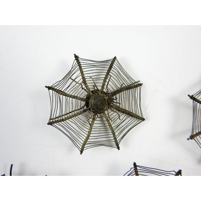 Industrial Silver Plate Spider Webs, 1920s - Set of 6 For Sale - Image 3 of 5