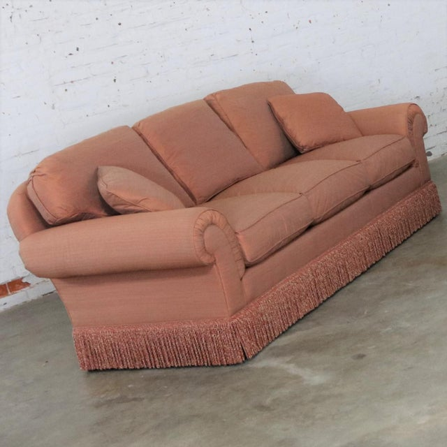 American Baker Sofa Lawson Style From the Crown and Tulip Collection Terracotta For Sale - Image 3 of 13