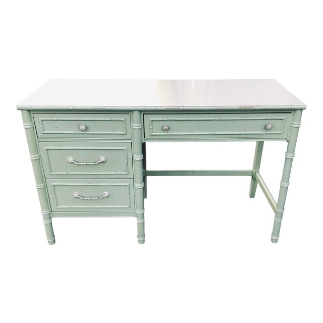 Thomasville Faux Bamboo Writing Desk For Sale