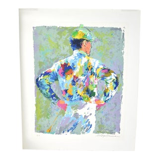 """1970s Vintage Leroy Neiman """"The Jockey"""" Horse Racing Signed Artist's Proof Serigraph For Sale"""