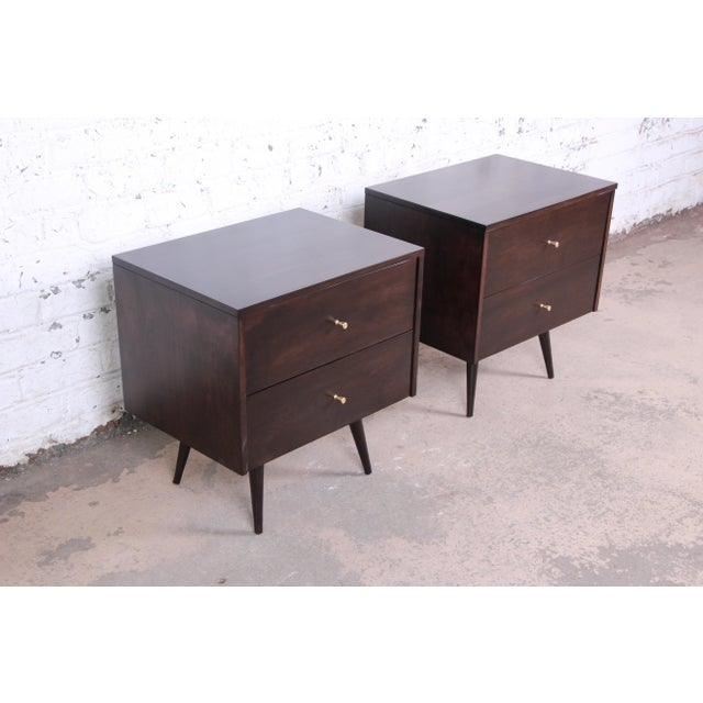 Contemporary Paul McCobb Planner Group Mid-Century Modern Nightstands, Newly Refinished - a Pair For Sale - Image 3 of 13