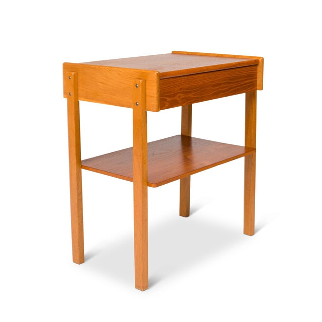 Vintage Danish Mid-Century Teak Nightstands (Pair) For Sale In San Francisco - Image 6 of 11