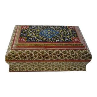 1970s Moroccan Wood Keepsake Box For Sale