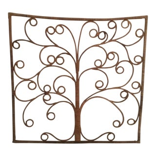 Boho Chic Wicker Sculptural Wall Art / Headboard For Sale