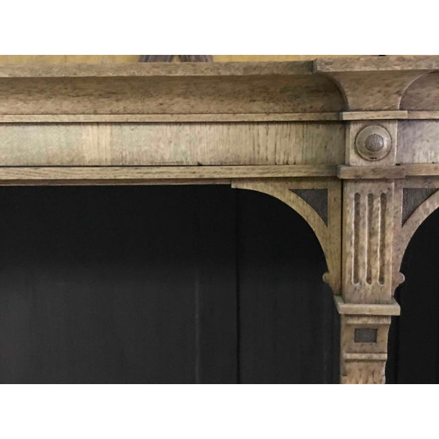Traditional 1880s English Open Face Oak Bookcase For Sale - Image 3 of 5