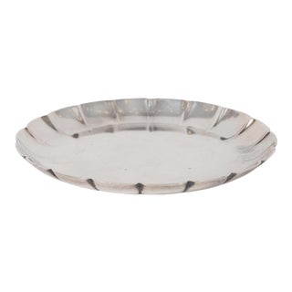 Art Deco Sterling Silver Scalloped Decorative Dish Signed by Tiffany & Co. For Sale