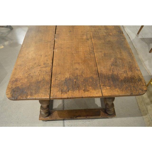 "Wood Antique ""Table D'Echangeur"" For Sale - Image 7 of 13"
