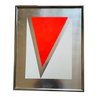 Anton Fortescu - Smyth Hard Edge Metallic Print Serigraph - Signed and Numbered For Sale
