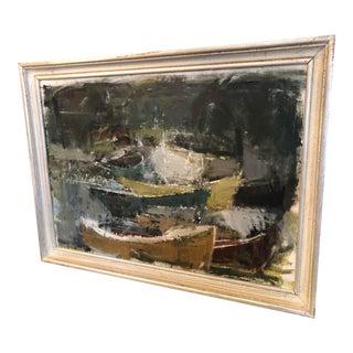 1960s Vintage Mid-Century Modern Swedish Painting For Sale